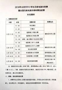 2019年北京市中小学生无线电测向竞赛通知01